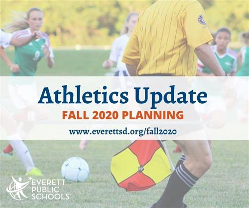 fall 2020 athletics update soccer game background