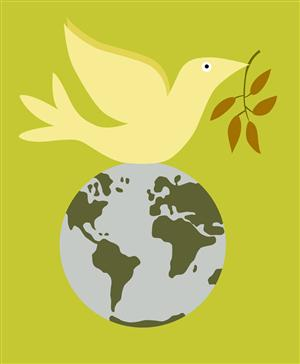 Peace Dove on top of Globe