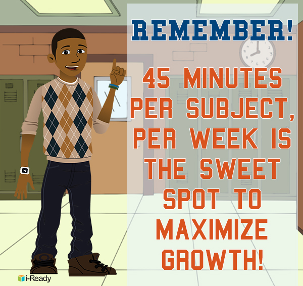 Remember 45 minutes per subject per week is the sweet spot to maximize growth