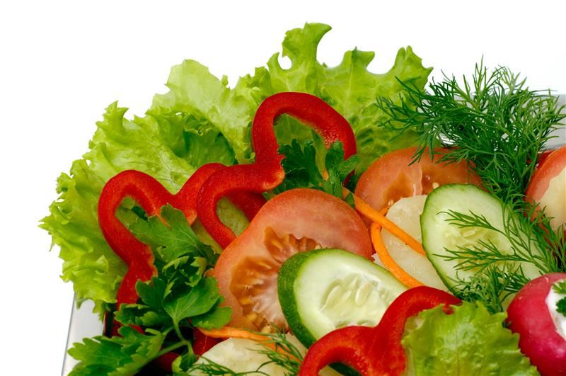 Variety of cut vegetables