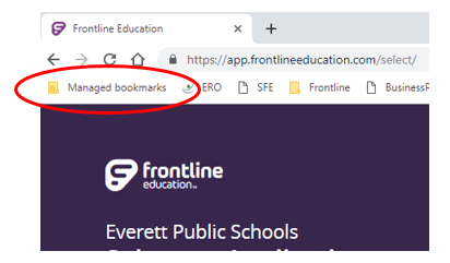 Managed Bookmarks