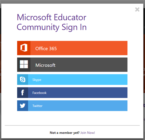 Microsoft Educator Community Sign In