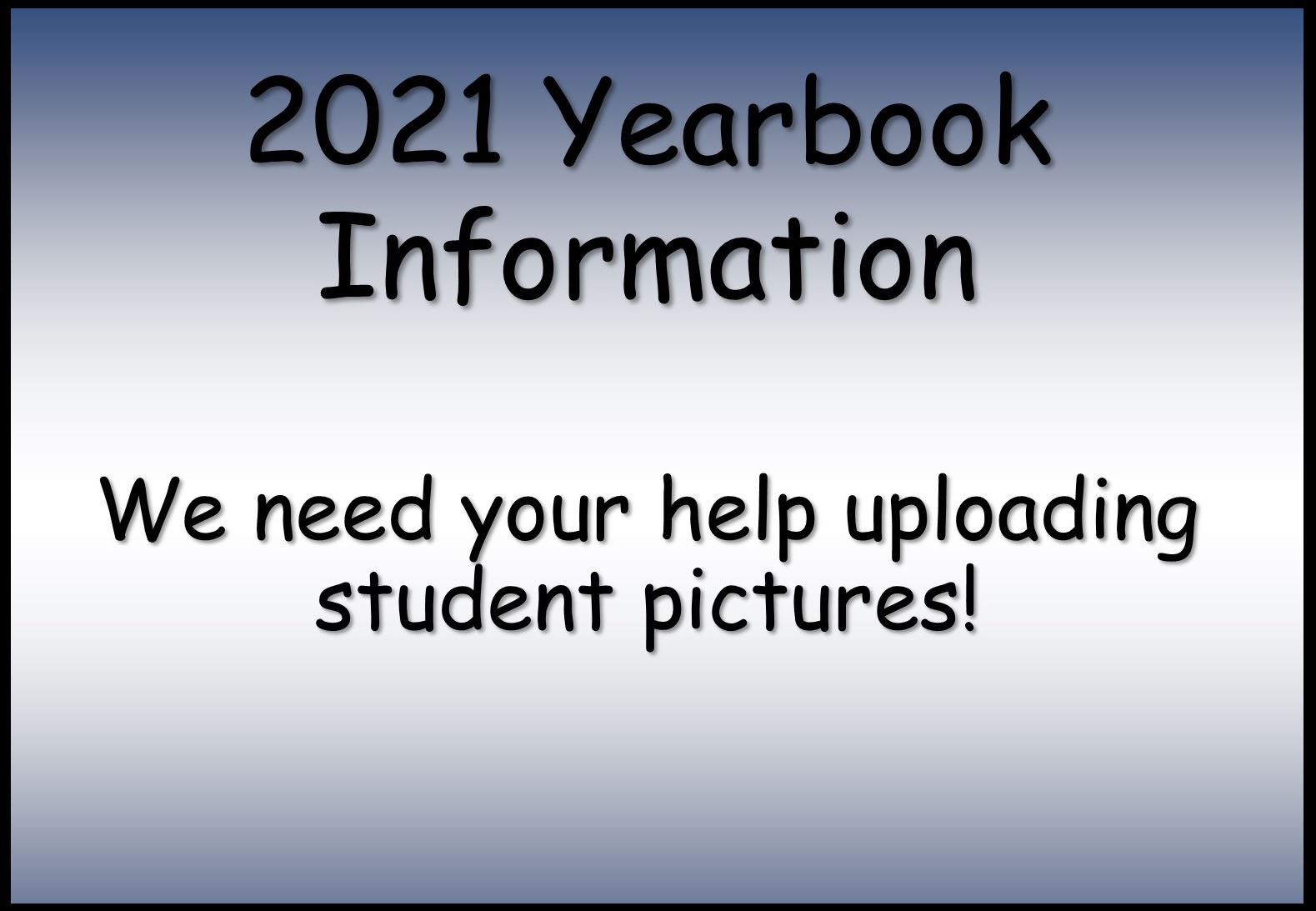2021 Yearbook info