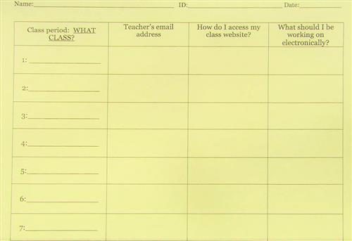 Teacher Contact Forms