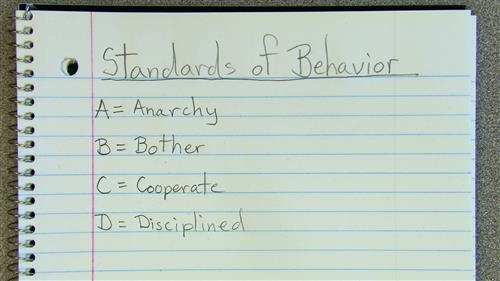 09.05.19 Standards of Behavior