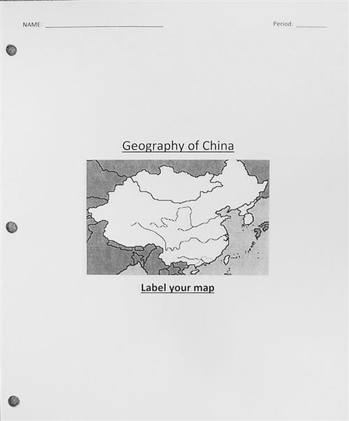 Geography of China Map