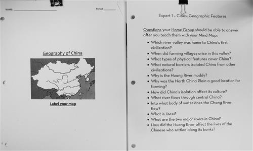 Geography of China and Expert Features Questions