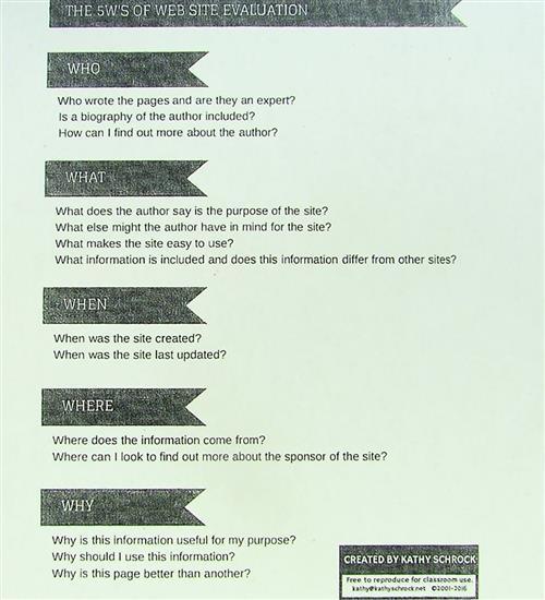 5W''s of Website Evaluation