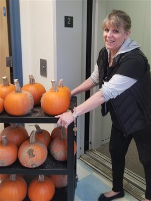 Nancy and the pumpkins