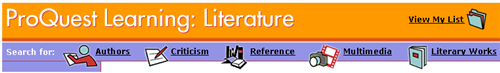ProQuest Learning: Literature
