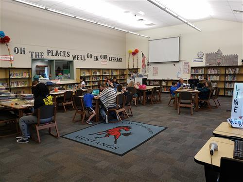 Silver Lake Community members during open library.
