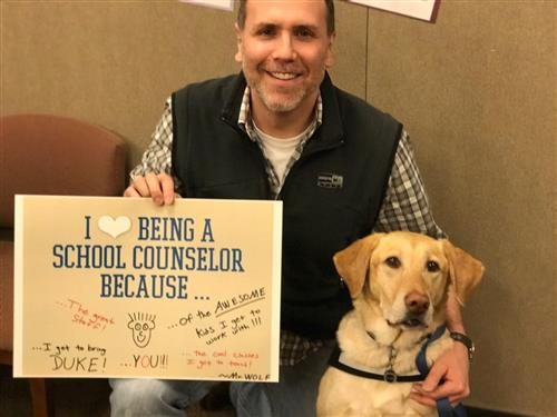 Duke and I LOVE being school counselors!