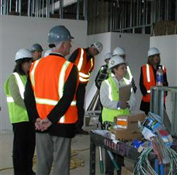 Tour of construction site