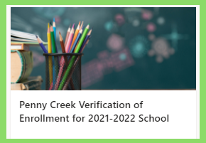 Enrollment Verification for Penny Creek Ele 2022sy