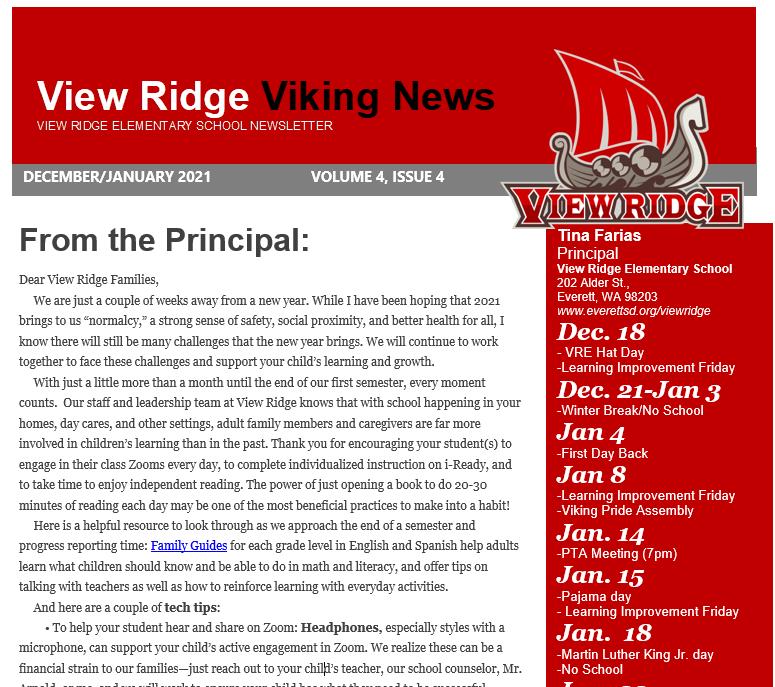 Read our Latest VIKING NEWS!