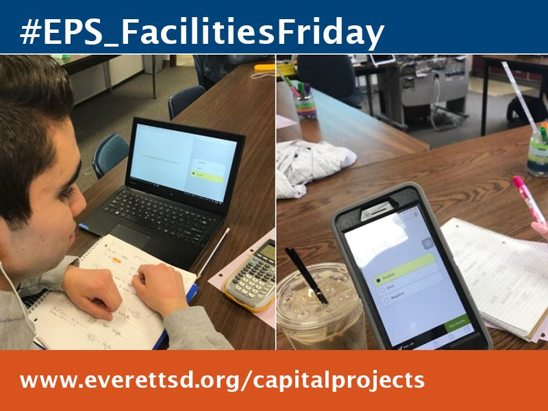 Sequoia High School students use one-to-one devices on a daily basis.