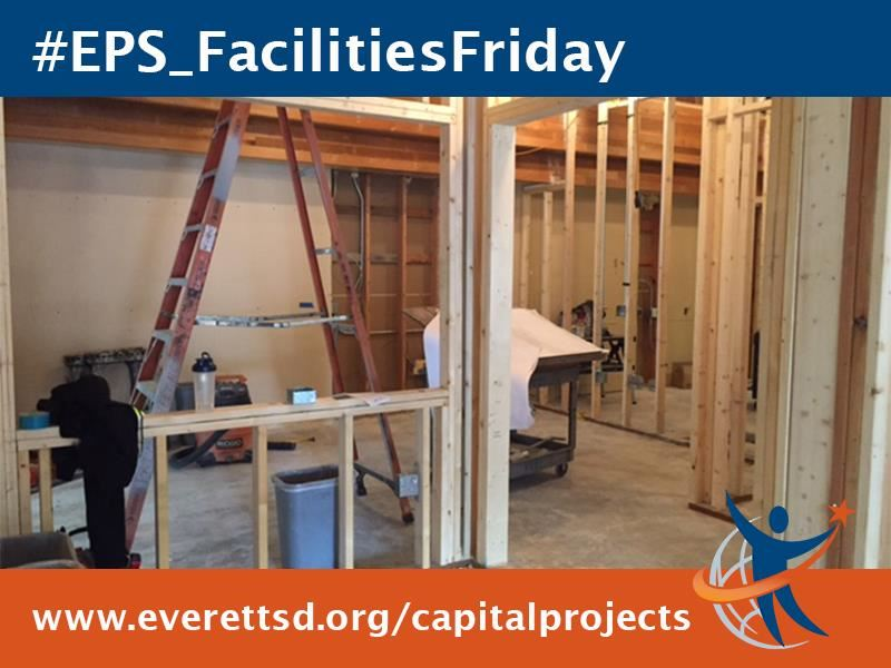 Walls removed, framing in, carpets pulled up at Penny Creek Elementary School