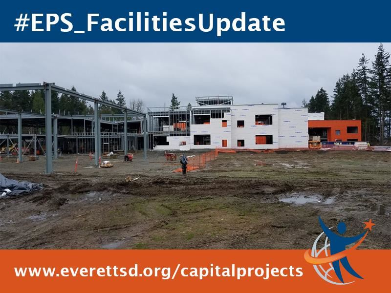 Tambark Creek Elementary School is on schedule to open fall 2019. #EPS_FacilitiesUpdate  All concrete floor slabs have been p