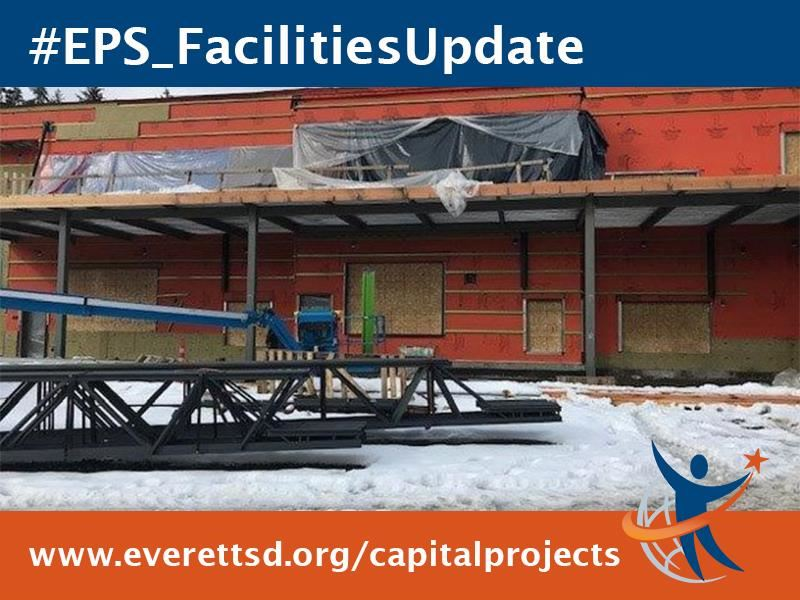 Snow at Tambark Creek Elementary School construction site.