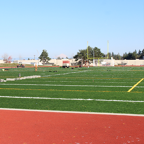 Cascade HS synthetic turf field (completed)