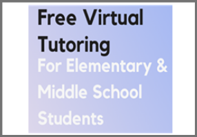 Free virtual tutoring for elementary & middle school students