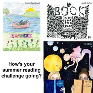 Summer reading challenge brochure artwork