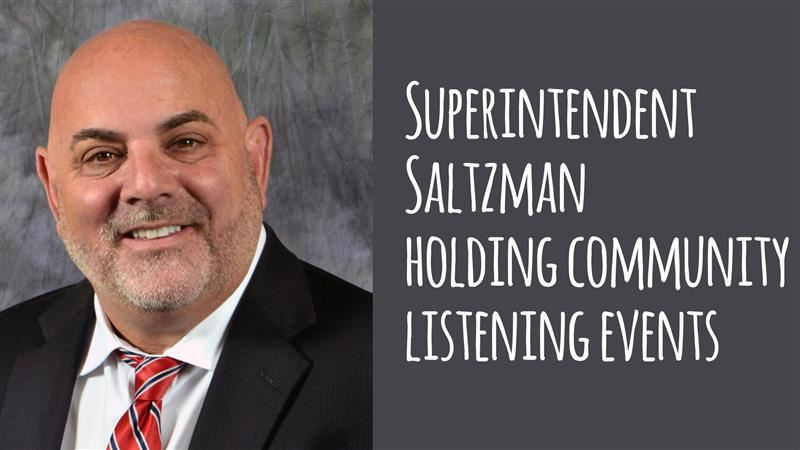 Dr. Saltzman holding community listening events