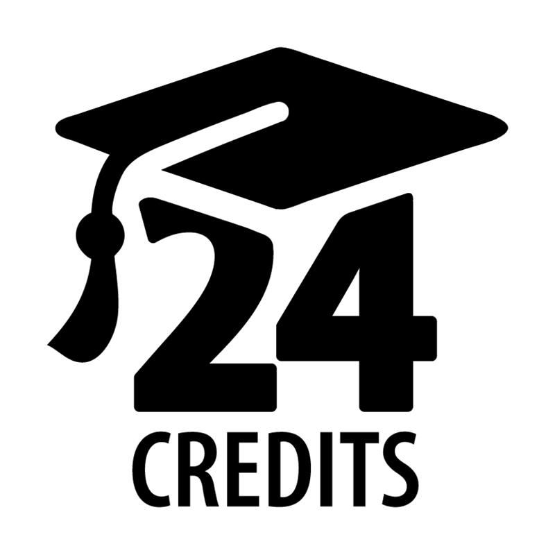 logo of 24 with a graduation cap on top