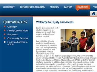 Equity and Access website
