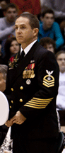 Chief Crosby in Service Dress Uniform
