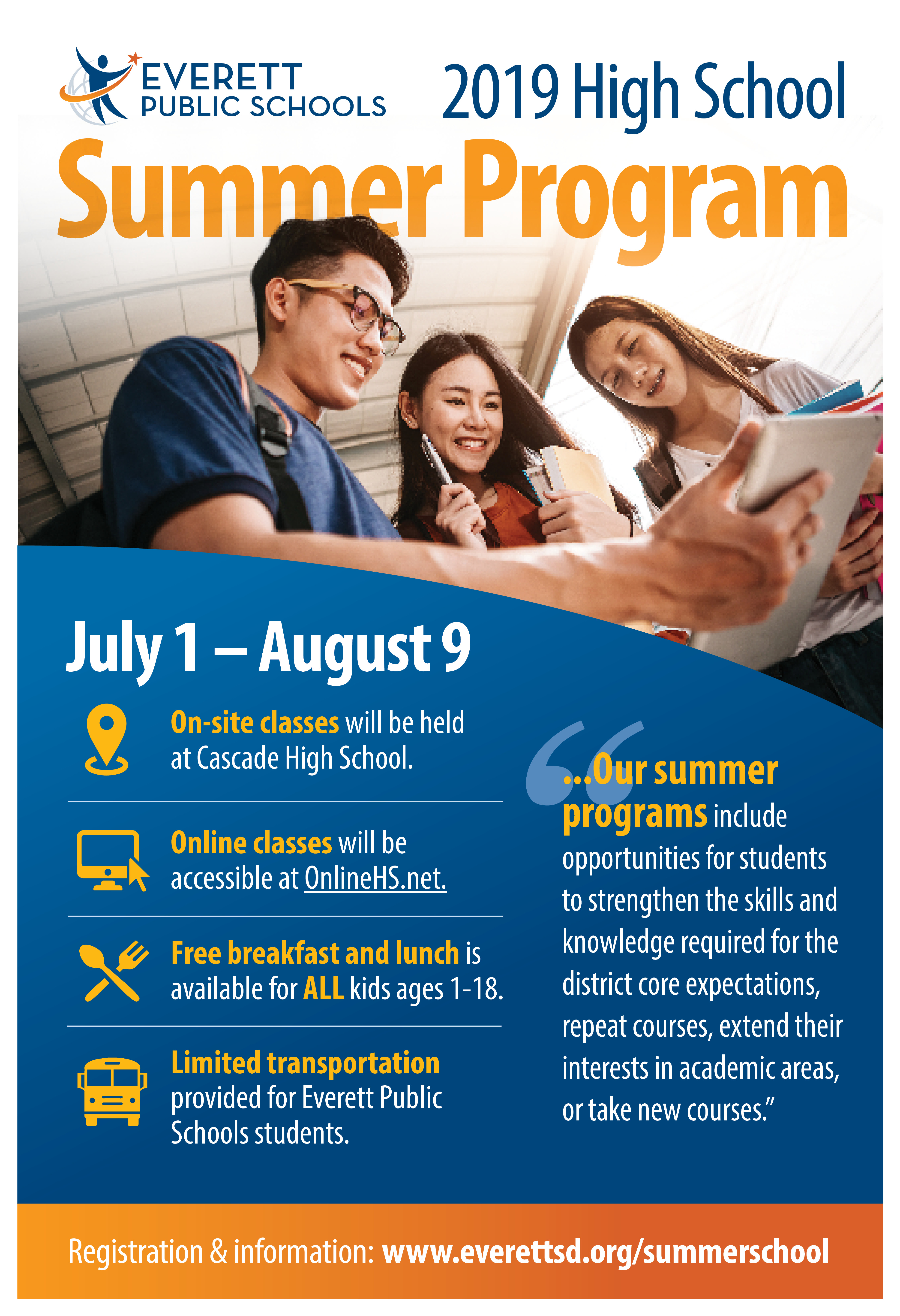EPS High School Summer Program Brochure