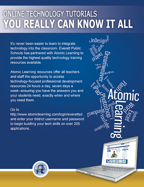 Atomic learning flier